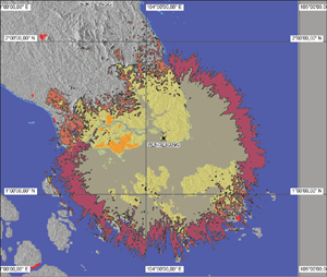 Figure 3: AIS radio coverage analysis